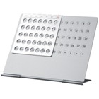 Aluminium everlasting calendar - every desk should have one - gr