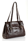 Jekyll & Hide Athena Leather Handbag 213289 - Black, Brown