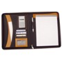Deluxe real leather zipped conference folder A4 with writing pad
