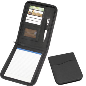 A5 Zip Around Folder Koskin + Pad-Black