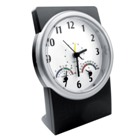 Desk alarm clock with thermometer and hygrometer