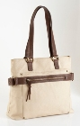 Jekyll & Hide Cow Leather Handbag 7404 - Cream with Dark Brown