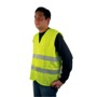 Yellow safety jacket, lightning stripes class 2, EN 471 certifie