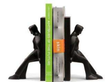 Leaning Men Bookends - Min Order: 2