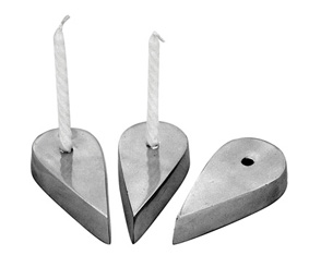ALUMINIUM  TEAR DROP  CANDLE HOLDER 1PC
