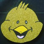Duck Face - 30cm - gold glitter