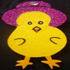 Chicken with hat + gems - 30cm