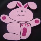 Pink Bunny  - with glitter - 30cm