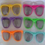 Giant sunglasses - plastic - assorted
