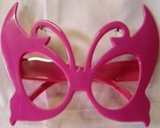 Crazy Glasses - plastic - pink butterfly