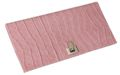 Slim Travel Wallet - Chic Pink Croco