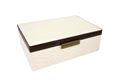 Jewellery Box Square - Chic Marula Ivory