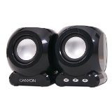 Canyon  speaker - (Stereo, 6W, 100Hz - 20kHz, USB) , Square , Bl