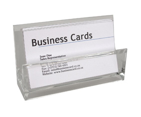 ACRYLIC DESK TOP BUSINESS CARD HOLDER