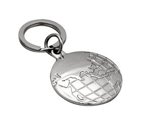 "SILVER KEYRINGM ""EARTH"""