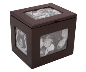 DARK MAHOGANY PHOTO BOX (120 PHOTO S)