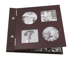 Dark Mahogany photo album - Holds 60 photos (22*23*3cm)
