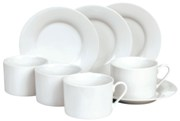 8Pcs White porcelain tea set in colour gift box