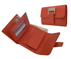 Ladies Leather Day Wallet-Clay