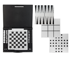Silver & Black 4-In-1 Magnetic Game