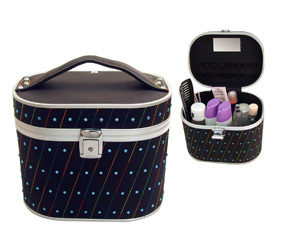 Black Oval Bling Vanity Case