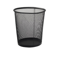 Black Mesh Wastepaper Bin 23Cm Diame