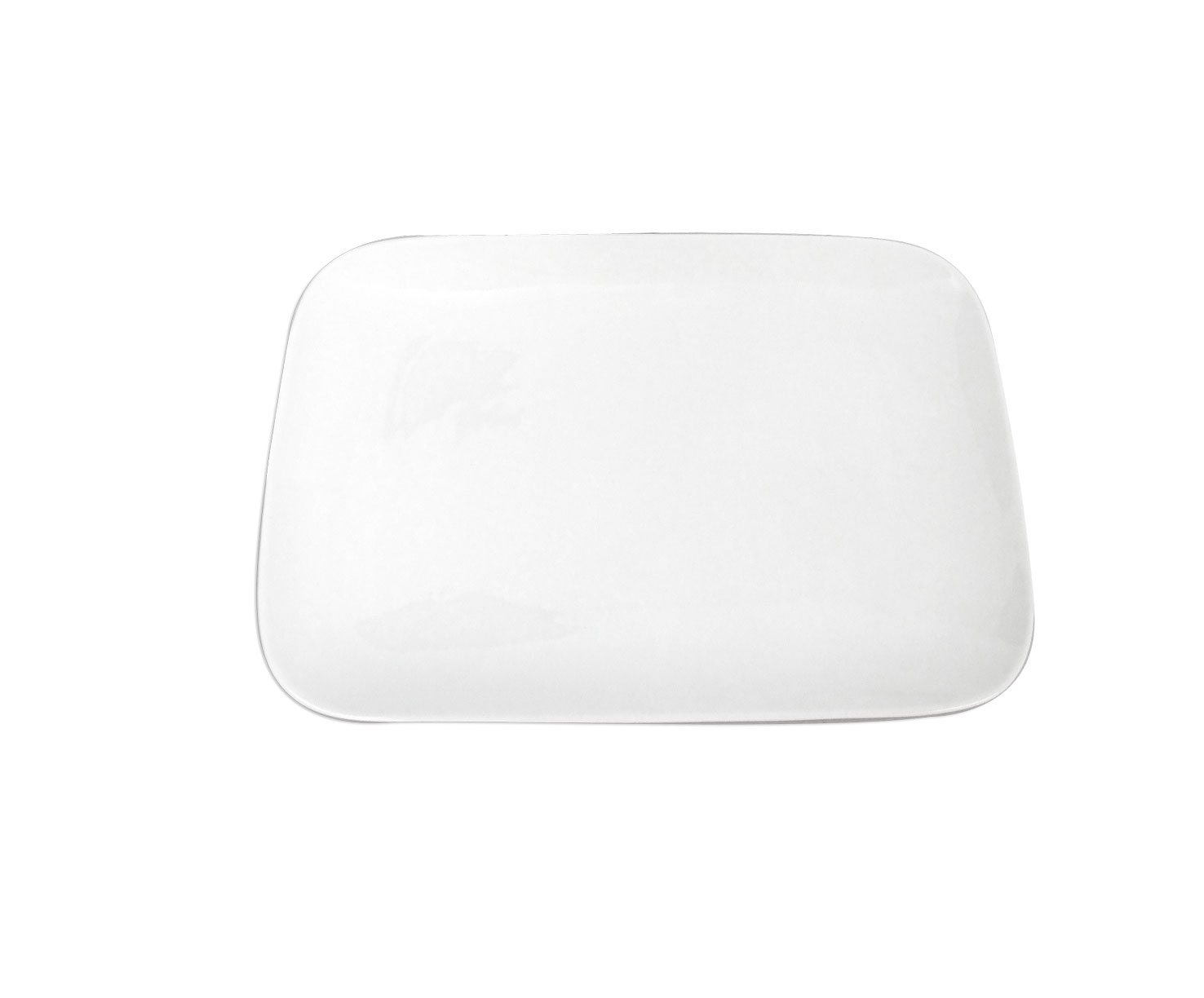 White Bone China Med Rectangular Pla