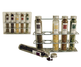 6 Piece Spice Rack Set With 5 Spices