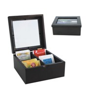 Mahogany Tea Chest Med 4 Compartments