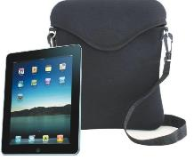Black Neoprene Ipad Case With Belt