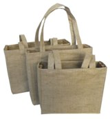Natural Jute Bag (Large) - Size: 460mm x 350mm x 120mm - Min Ord