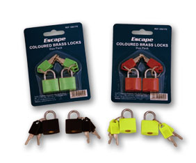 ESCAPE- COLOURED BRASS LOCKS DUO PACK