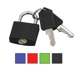 2 Brass coated pad lock - Assorted colors