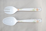Melamine Flower Salad Server Set 2pc Min Order: 20
