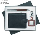 3pc Leather Gift Set (Square Key Ring)