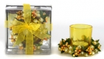 1Pc Candle Beaded Set Yellow