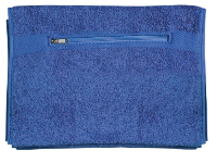 Gym Towel With Zip Pocket - Royal