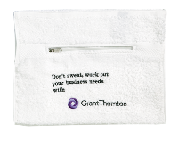 Gym Towel With Zip Pocket - White