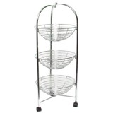 Chrome 3 Tier Trolley