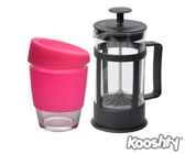 Kooshty Single Koffee Set Black Press - Avail in: White, Pink, R