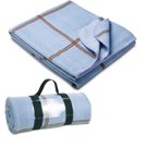 Fleece blanket with handle strap