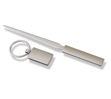 Gift Set with chrome letter opener and key ring 2 in 1 Set
