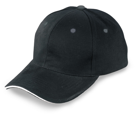 Baseball cap with adjustable velcro cap - Brushed cotton