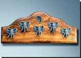 Elephant Large Key Rack - African Theme