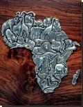 Puzzle Of Africa - 36 Pieces. Pewter - African Theme