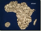 Puzzle Of Africa - 36 Pieces. Silver - African Theme