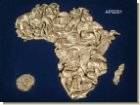 Puzzle Of Africa - 36 Pieces. Silver - wooden box - African Them