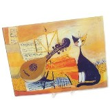Cutting Board Cat & Lute 30X40  ""