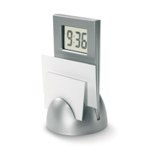 Stand clock with memo holder - Available in: Black , Matt Silver