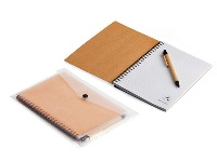 A5 Eco Notebook & Pen in clear sleeve